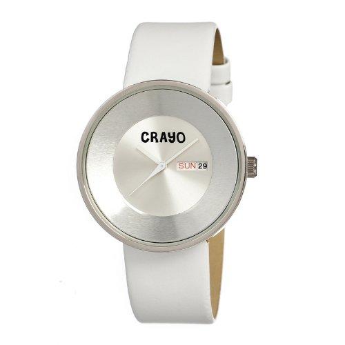 crayo-womens-button-white-silver-silicone-strap-watch