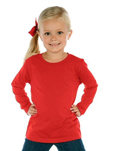 Neck Long Sleeve, Red, 2T ()