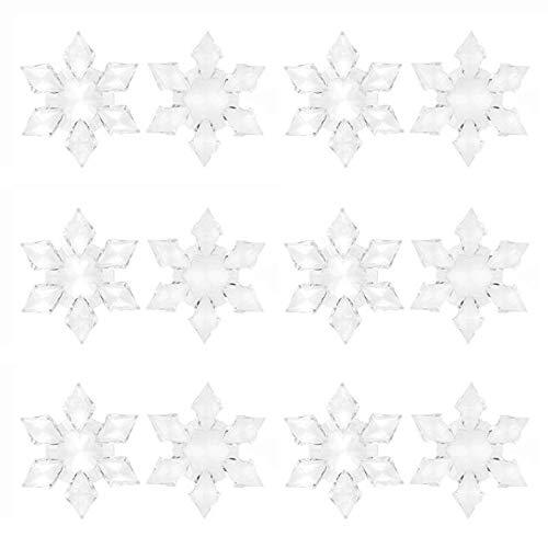 - Dolloress Home & Kitchen ⭐ 12 PCS Christmas 3D Clear Crystal Acrylic Frozen Snowflake Rhinestone for Xmas Tree Pendant DIY Decorative Craft Scrapbooking Decor