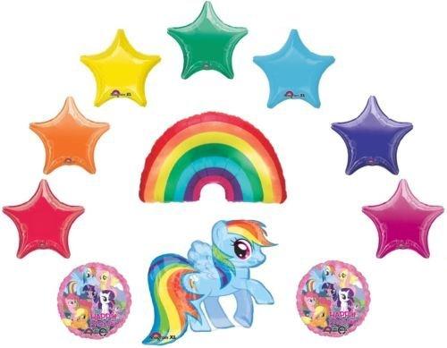 LoonBalloon MY LITTLE PONY & Rainbow DASH Stars 11 Birthday Party Decoration Mylar Balloons