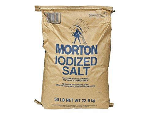 Morton Iodized Table Salt - Bulk - Five Pounds -