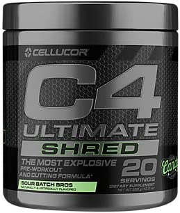 C4 Ultimate Shred PreWorkout Sour Batch Bros 12.3 oz. 20 Servings
