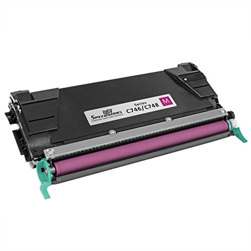 SpeedyInks Remanufactured Lexmark C746A1MG Magenta Laser Toner Cartridge for use in C746DN, C746DTN, C748DE, C748DTE, & C748E (Color Laser Printer C748e)
