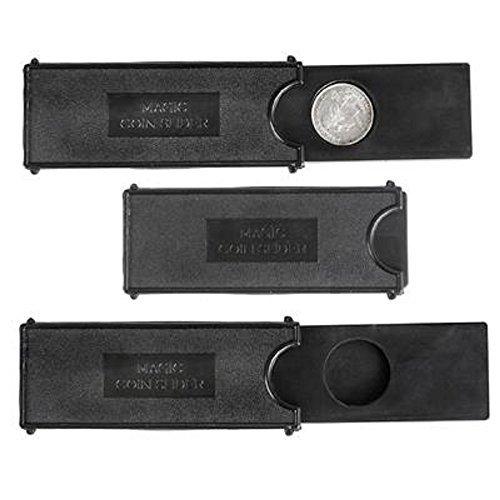 4'' Magic Coin Case, Black. 24 pieces.