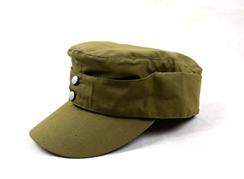 Chengxiang Replica WWII German Afrika Korps Field Cap Hat 57 58 59 60CM (60cm) Khaki