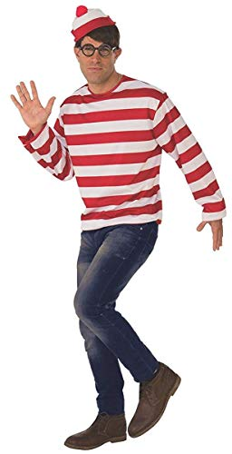 Rubie's Unisex Standard Where's Waldo Adult Costume Kit, As As Shown Standard ()