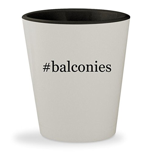 #balconies - Hashtag White Outer & Black Inner Ceramic 1.5oz Shot - Box Flower Gazebo