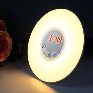 Bullker Sunrise Alarm Clock, Wake Up Light Alarm Clock with Sunrise Simulation/Nature Sounds/FM Radio, for Men Women Teens Kids Sleeping Aid