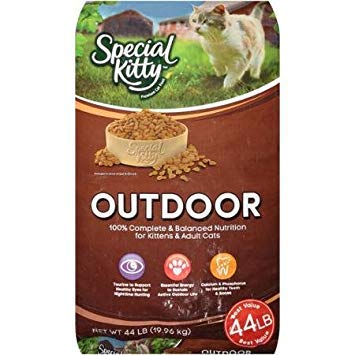 Special Kitty 44 Lbs Outdoor Dry Cat Food for Energetic Active Adult Cats/Support Healthy Bones/Teeth/Vitamins for Eye Health/Wholesome Ingredients/Nutritious Premium Product to Crave/ by Special Kitty