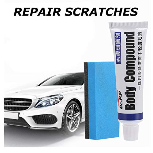 Iusun Car Scratch Paint Repair Agent Care Body Polishing Scratching Paste Repair Agent Auto Supply (White)