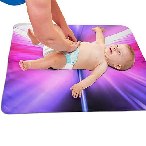 V5DGFJH.B Baby Portable Diaper Changing Pad Abstract Dragonfly Urinary Pad Baby Changing Mat 31.5