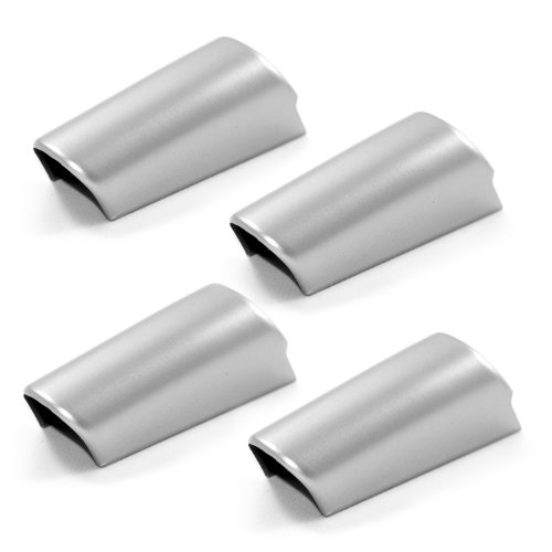 Rugged Ridge 11151.12 Brushed Silver Steering Wheel Spoke Accent Piece  - Pack of 4