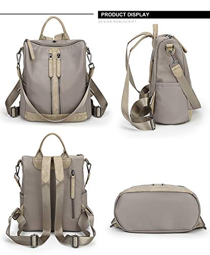 School Shoulder Girls grey Casual Bag for Backpack Leather Purse Travel FIGROL Women Backpack Bag PU Satchel 7016 �� Ladies xwvZ11