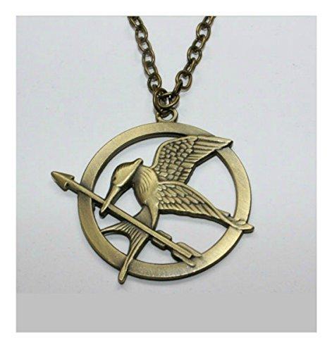 The Hunger Games Victorious Mockingjay Bird Katniss Everdeen Pin Arrow Necklace Bronze by The Hunger (Katniss Mockingjay Pin)