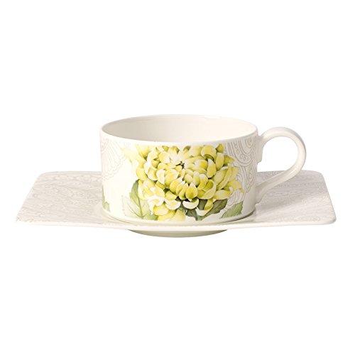 2/St/ück Villeroy /& Boch quinsai Garden Tasse Te mit Teller Porzellan Bone China Mehrfarbig