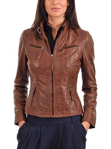 Marrón Chaqueta Mujer Junction Para Leather x7apnZ