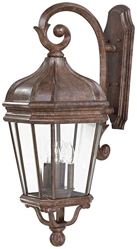 Minka Lavery 8693-61 4 Light Outdoor Wall Mount, Vintage Rust Finish
