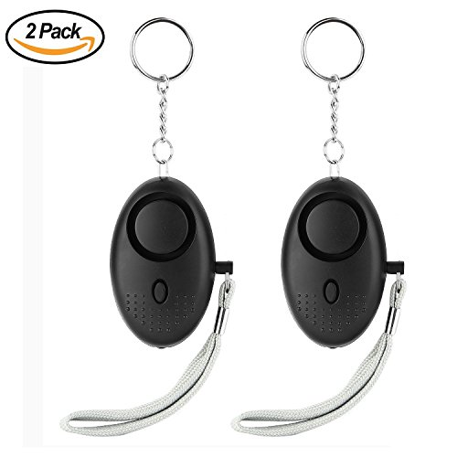 2 Pack Personal Secutiry Alarm - 130DB SOS Emergency Self-Defense Safety Loud Alarm Keychain with LED Flashlight / Rape Attack Sound Grenade for Women/Kids/Girls/Superior/Elderly by Baleauty