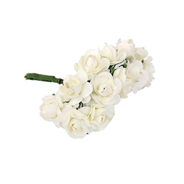 Color Blanco 10 Unidades Hemore Ramo de Flores Artificiales de Espuma