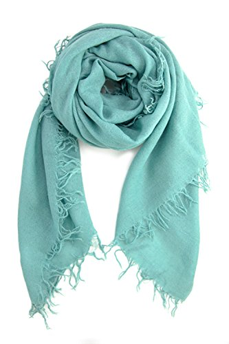 Chan LUU NEW Mineral Blue Cashmere & Silk Soft Scarf Shawl Wrap by Chan Luu