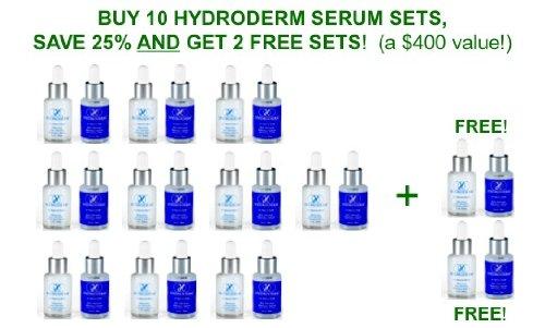 Hydroderm Jour / Nuit réduction des rides système Sérum - 10 PACK, acheter 10, GET deux GRATUIT! (Original Age Defying-réducteur de rides 30ml, âge Defying Wrinkle Serum avec Matrixyl 30ml)