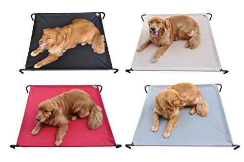 Premium Elevated Dog Pet Bed, Comfortable, Waterproof, Machine Washable and Lightweight - Indoor/Outdoor Sturdy Cool Travel Camping Dog (Kong Pet Bed)