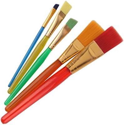 【ノーブランド品】ペイント 図画 画材 ナイロン 子供 絵画 用 水彩筆 絵筆 画筆 ブラシ 5本セット
