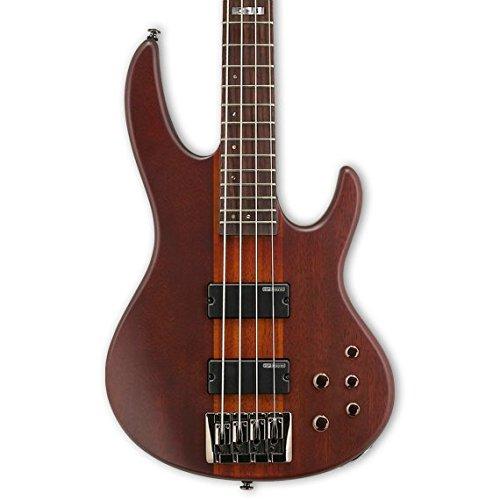 ESP LTD D Series D-4 Electric Bass Guitar - Natural Satin (Guitar Bass Natural Electric)