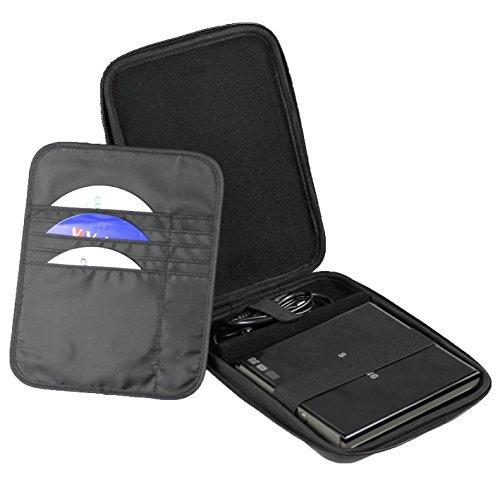 iGadgitz Black EVA Travel Hard Case Cover Sleeve for External USB DVD CD Blu-Ray Rewriter / Writer by igadgitz (Image #2)