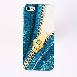 HOR Patrón Jeans Zipper estuche rígido de policarbonato para el iPhone 4/4S , Multicolor