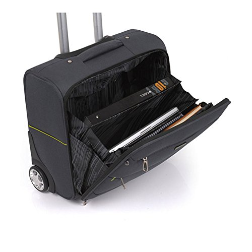6129248b643 GABOL VEGAS PILOT CASE BLACK  Amazon.co.uk  Luggage