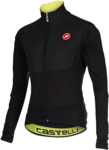 Castelli Men's Passo Giau Jacket (Large, Black/Yellow) ()