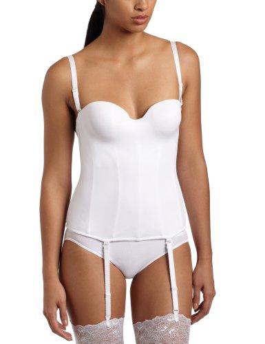 (Carnival Women's Full figure Seamless Molded Corset Bra, White, 38DD)