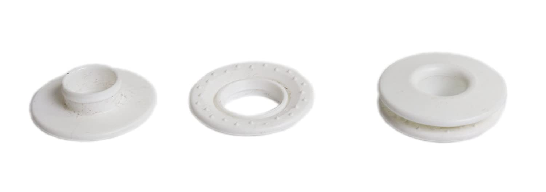 /Ösen Ring/ösen GARDINGER 10er-Pack Schlag/ösen Kunststoff wei/ß f/ür Sonnensegel