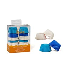 Decora 0339750 CF 200 Cups DE Papel Blanco/Azul Claro/Azul 32 X 22 MM