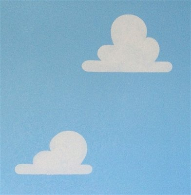 (Cloud Stencil Set for Wall Decor: Reusable Stencils for a Kid's Toy Story Room or Andy's Room Nursery, 2-Pack Includes 1 Large and 1 Small Cloud Stencil)