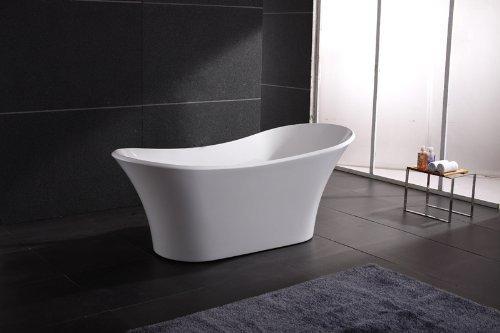 AKDY AZ-F274 Freestand White Color Acrylic Bathtub