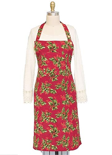 April Cornell Apron (Red Holly Honeycomb) ()