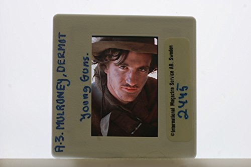 Slides photo of American actor Dermot Mulroney in the scene from a 1988 American western film