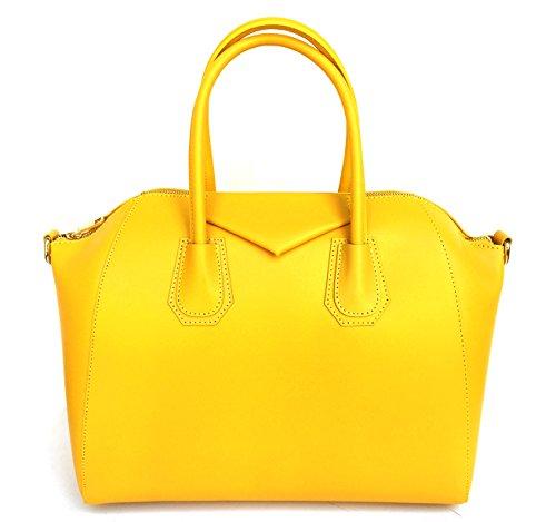 Superflybags - Bolso de asas para mujer XL amarillo