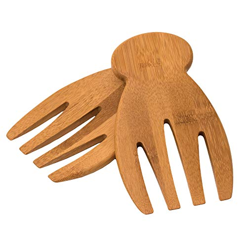 Small Tomato Server - Totally Bamboo Salad Hands, Bamboo Salad Server Set