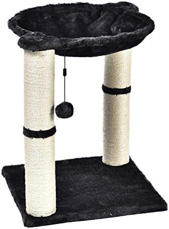 Torre en forma de árbol para gatos con cama tipo hamaca y poste rascador 8