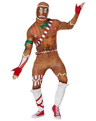 Gingerbread Costume For Adults (Spirit Halloween Adult Merry Marauder Fortnite Costume   Officially Licensed -)