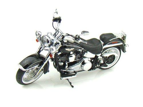 ダイキャスト バイク 2010 ハーレーダビッドソン FLSTN Softail Deluxe ブラック 1/12