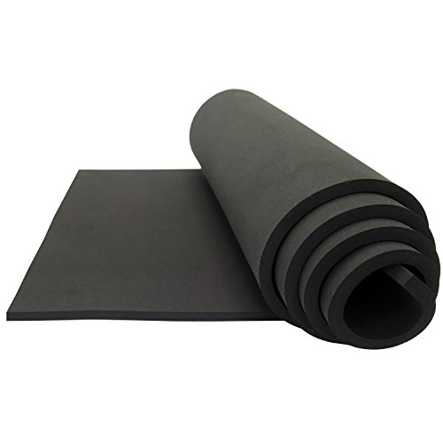 Neoprene Sponge Foam Rubber Sheet Roll - 15in x 60in (3/8'' Thick) by LAZY DOG WAREHOUSE