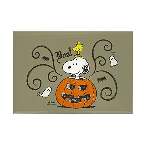 CafePress Peanuts Snoopy Sketch Pumpkin Rectangle Magnet, 2