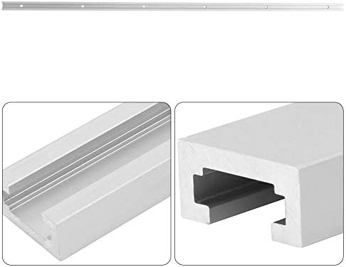 Zerone Aluminum Alloy T-Slot Miter Track Jig Non-Porous Slide Slab Fixture Woodworking Tool(1000mm/39.4in)