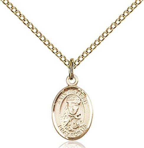 Patron Saints by Bliss 14K Gold Filled Saint Sarah Petite Charm Medal, 1/2 Inch