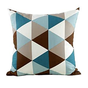 B Lyster shop Blue Argyle Geometry Cotton & Polyester Soft Zippered Cushion Throw Case Pillow Case Cover