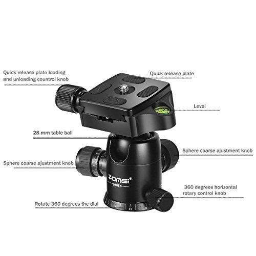 ZOMEI Heavy Duty Photography Camera Tripod Ball Head 360 Deg